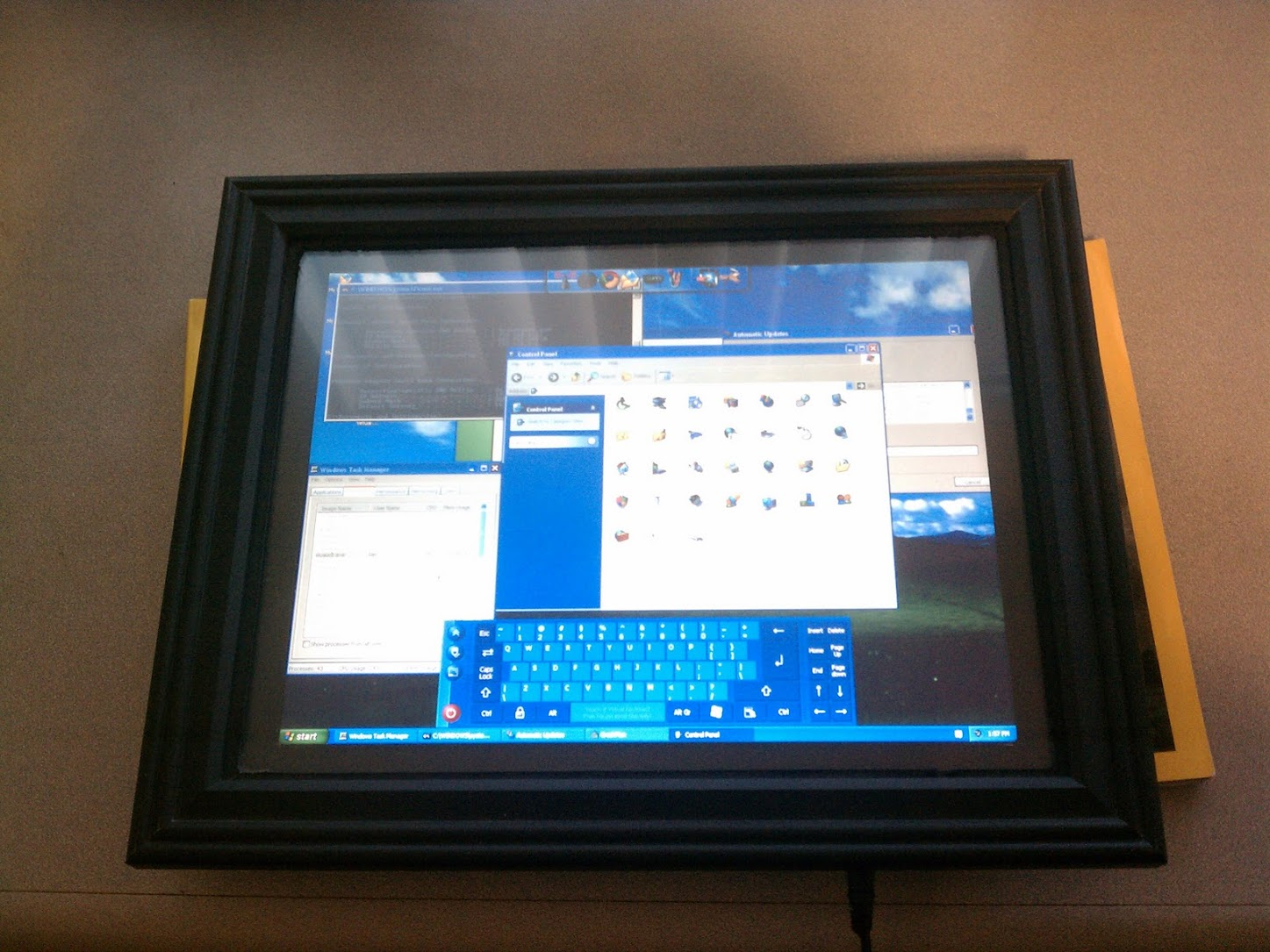the finished picture frame tablet pc