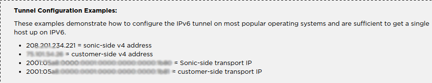 Sonic IPv6 Tunnel with DD-WRT
