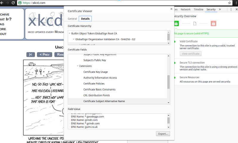 XKCD SSL Certificates